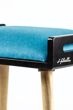 Stool / Seat / Ottoman / bench in black lacquer and by Habitables