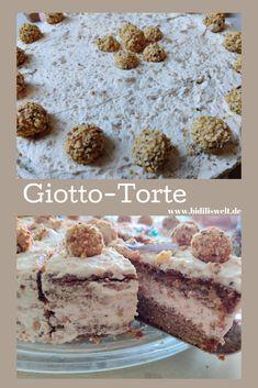 Giotto-Torte, Kuchen, Giotto, Sahnetorte, backen, #einfachbacken #giottotorte #giotto #torte #haselnuss