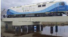 CRÓNICA FERROVIARIA: Probaron con unidad tractiva puente ferroviario so...