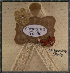 Fox Grandma To Be Corsage Fox Grandma To Be Baby by BloomingParty