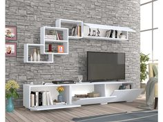 How and where to make a modern TV cabinet design? Modern Tv Unit Designs, Modern Tv Wall Units, Living Room Tv Unit Designs, Tv Unit Decor, Tv Wall Decor, Wall Tv, Tv Wall Shelves, Tv Shelf, Bedroom Wall Units