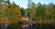 Sjöstugan: Ein privater Toplage direkt am See Åsnen. Småland,Schweden