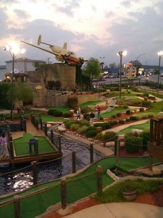 Lost Treasure Mini Golf, Branson Missouri. So much fun!  the plane is gone now after the tornado but they repaired it nicely over all  (stacie)
