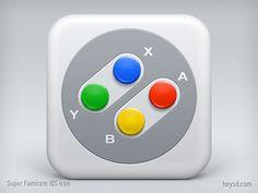 Super Famicom Joypad iOS icon by David Im Feb 12, 2013 via dribbble 939164
