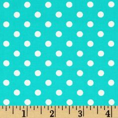 Michael Miller Dumb Dot Robins Egg from @fabricdotcom  Designed for Michael Miller Fabrics, this coordinating fabric features white polka dots on a robins egg blue background. The polka dot is about 1/4''. Use for quilting and craft projects