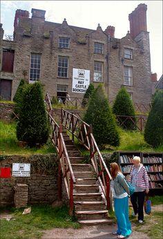 Hay Castle Bookshop, Hay-on-Wye, Powys, Wales.