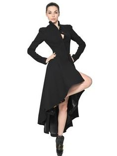 shopstyle.com: Alexander McQueen Double Wool Crepe Long Coat