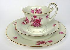 Place Setting Antique Tea Set Cup Saucer Thomas Porcelain ca. 1930
