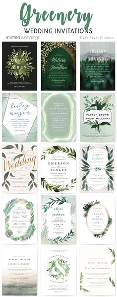 Minted greenery wedding invitations
