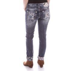 Miss Me Cuffed American Flag Skinny Jeans