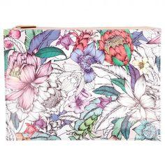 Botanical Floral zip pouch