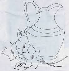 Resultado de imagen para plantillas para pintar en tela Embroidery Stitches, Embroidery Patterns, Hand Embroidery, Quilling Patterns, Stencil Patterns, Easy Drawings, Pencil Drawings, Pintura Tole, Painting Templates