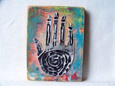 Original Art with Handmade milagro #etsy #art #handmade