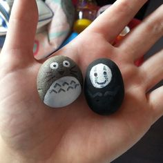 Totoro and no face painted stones!
