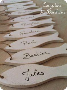 Poissons marque-places / mariage / cadeaux invités boutiquebonheur.canalblog.com