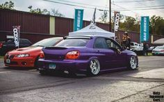 #subaru #impreza #purple #stance #wrx #slammed #jdm