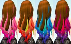 Hair Chalked Ombre's Brunette Base at Ohmyglobsims via Sims 4 Updates