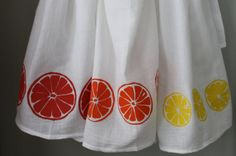 Items similar to Fruit Slices screen printed kitchen towel set of three in orange, lemon and grapefruit(or any 3 images) Flour Sack on Etsy Vegetable Painting, Vegetable Prints, Dish Towels, Tea Towels, Ugly Kitchen, Kitchen Ideas, Craft Activities For Kids, Craft Ideas, Berry Baskets