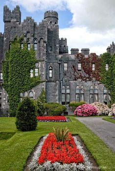 Castillo Medieval  Ashford , Irlanda, construido en 1228.