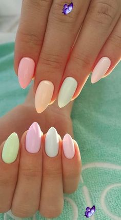 34 nails ideas you must try this summer - allthestufficareabout.com summer nails inspo<br> 34 summer nails ideas + 2 ideas for summer pedicure. Selection of nude nails, colorful nails as well as marble nails. Enjoy!