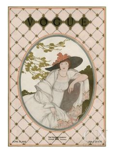 Vogue Cover - June 1912 Poster Print by Helen Dryden at the Condé Nast Collection