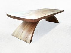 Ceder coffee table - exploring curved forms and laminate wood bending.