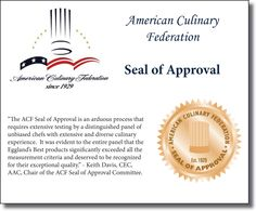 American Culinary Federation Seal of Approval 2011-2012 #egglandsbest