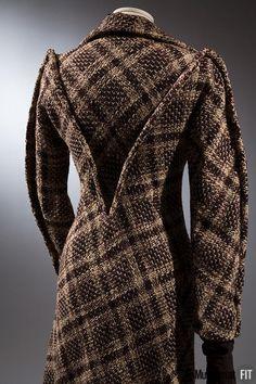 Coat (back view) | Designer: Charles James (1906-1978) | England, 1936 | Wool tweed | The Museum at FIT, Ne York