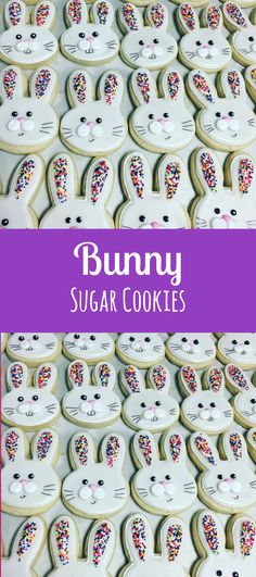 Sprinkle bunny face cookies #affiliate