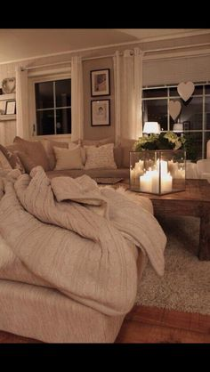 Comfy looking living room. I need my living room to have this look :-)