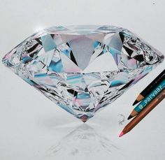 Diamond colored pencil drawing by Parvaaz.