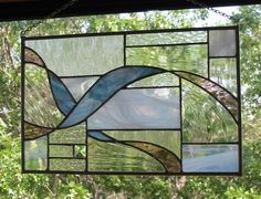 Stained Glass Panel Ribbons by HillCountryGlass on Etsy