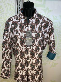GAGA Men Printing Short Sleeve Button Down Turn Down Collar Shirts