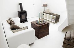 STYLIZIMO BLOG: ikea expedit covered in wood on weels.