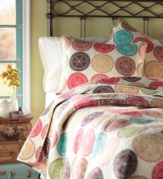 Bethany Cotton Patchwork Round Block Quilt Set - Plow & Hearth