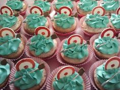 Cupcakes at a  Brave Party #brave #partycupcakes