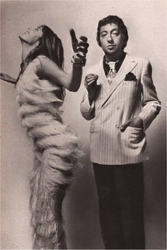 Jane Birkin & Serges Gainsbourg par Guy Bourdin