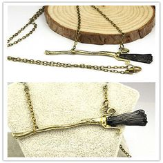Harry-Potter-Deathly-Hallows-Firebolt-Broomstick-Broom-Pendant-Charm-NecklaceJ