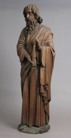 St. Paul. Date: late 15th century. Culture: French. Medium: Oak, traces of polychromy.