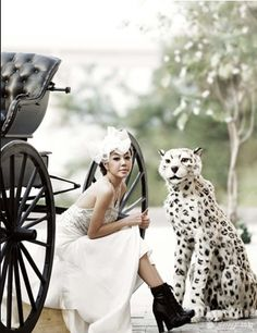 Wedding dress + black boots