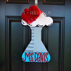 Science Beaker Teacher Wooden Door Hanger by DPlusThreeDesigns on Etsy https://www.etsy.com/listing/232086088/science-beaker-teacher-wooden-door