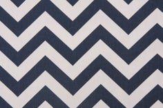 Premier Prints Zig Zag - Twill Printed Cotton Drapery Fabric in Blue $7.48 per yard- curtains