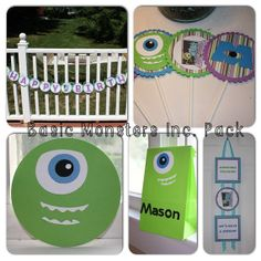 Basic Monsters Inc Birthday Pack by MamaLikesAParty on Etsy