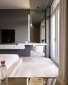 Bedroom Inspiration // Loft Interior The Perfect Scandinavian Style Home Modern Bedroom Design, Home Interior Design, Bedroom Designs, Modern Design, Scandinavian Style Home, Hotel Room Design, Loft Interiors, Suites, Minimalist Bedroom