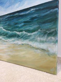 Australian beach. High quality acrylic painting on canvas. 50 cm (height) x 70 cm (width) x 1.7 cm (depth). 350g Canvas. New. ____________________________________ Australian beach. Fine acrylic painting on canvas. 50 cm (height) x 70 cm (width) x 1.7 cm (depth). 350g Canvas. New. Motive: