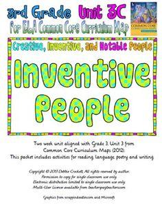 CC Curriculum Map Unit 3C, Third Grade, Inventive People