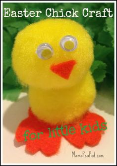 Cute and easy Easter craft for kids - Fluffy Chicks!