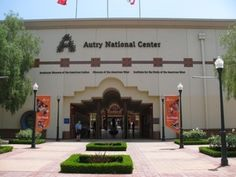 The Autry National Center is located near Griffith Park across from the Los Angeles Zoo.