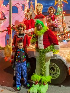 Whoville and Grinch costumes