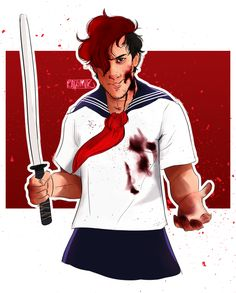Daaamn this is some good art! And his little yandere skit was sooo funny